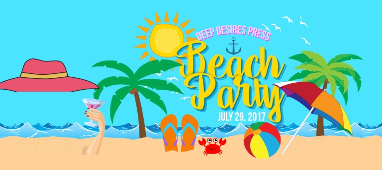 DEEP DESIRES BEACH PARTY [INVITATION] FB COVER
